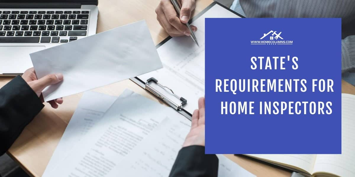 residential inspector of America state's requirements