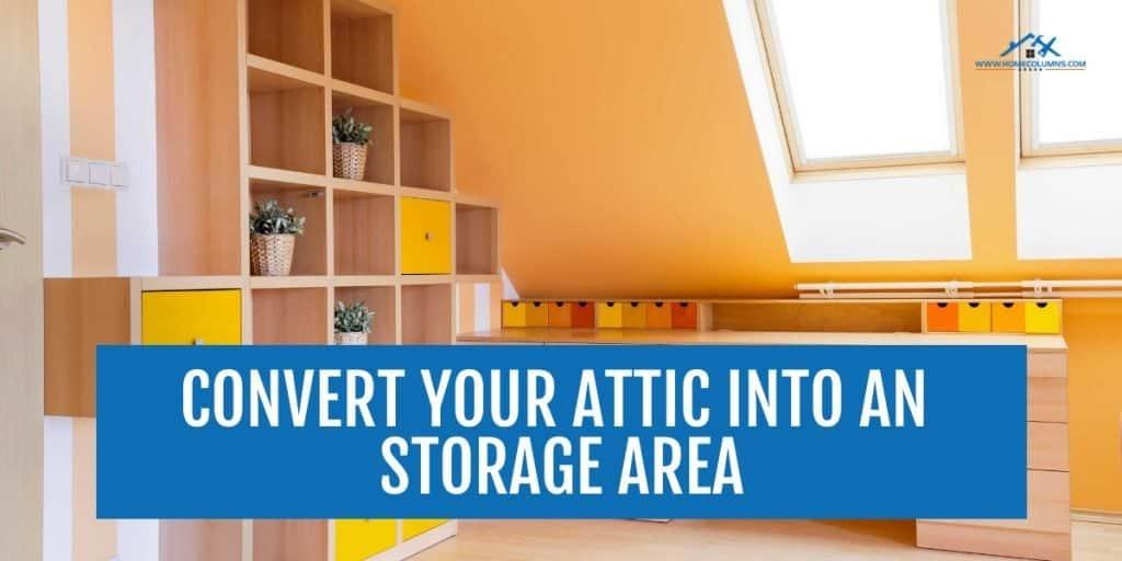 unfinished attic storage ideas
