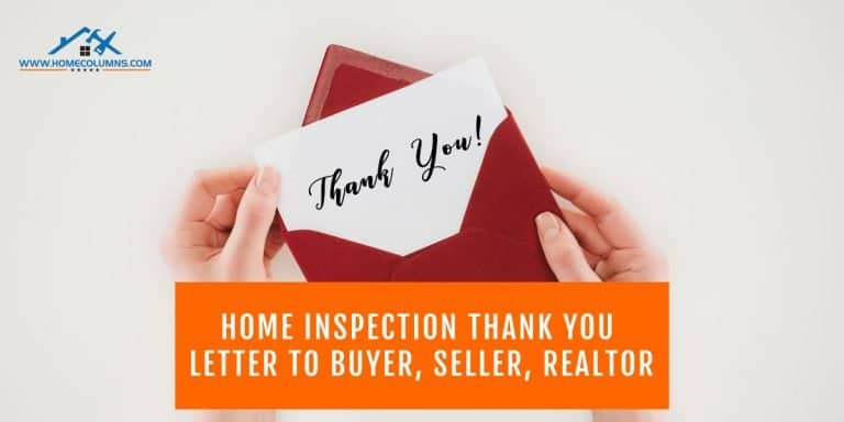 home inspection thank you letter to buyer seller realtor