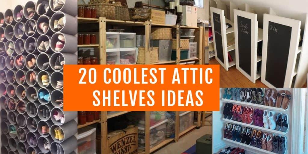 best attic shelves ideas